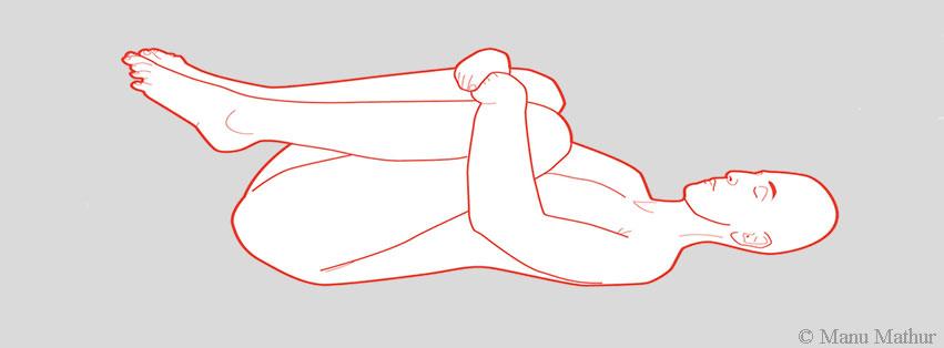 Yoga pose Apanasana
