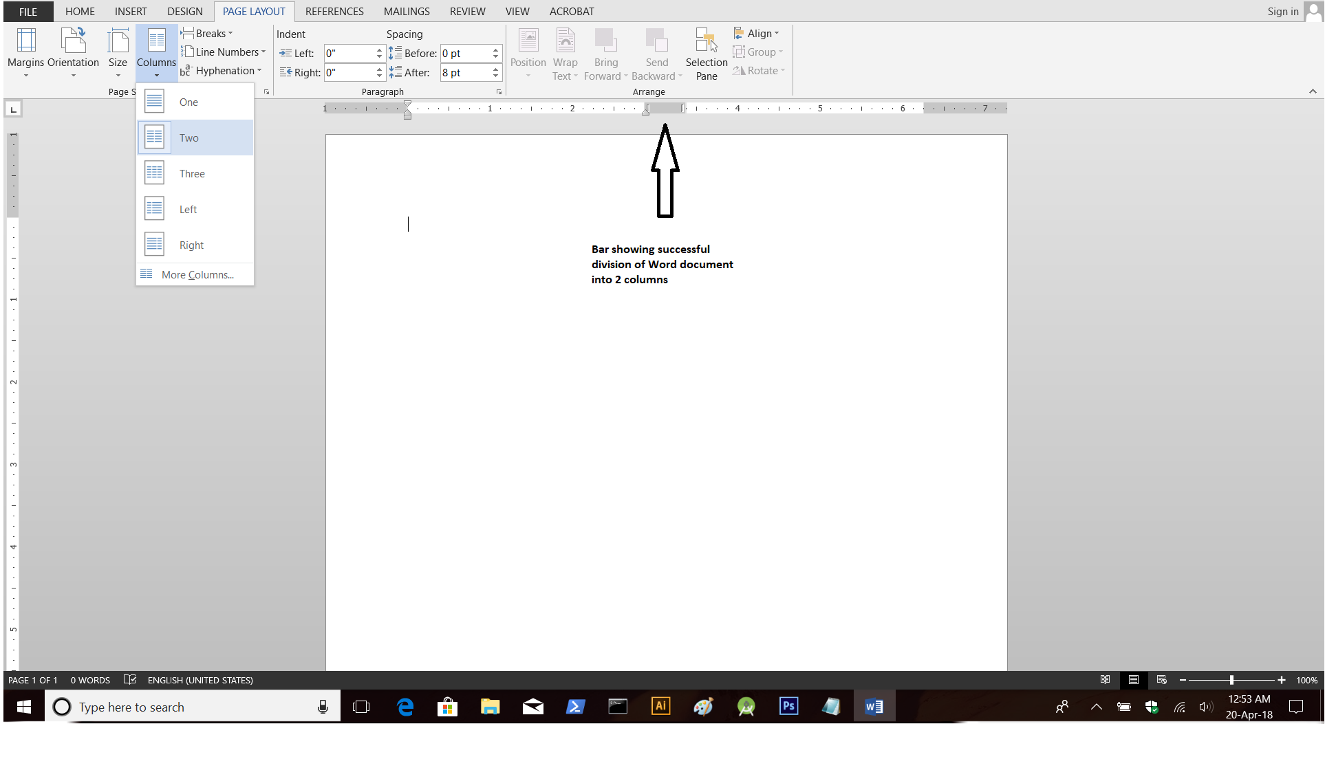 ms-word-ruler-displaying-two-column-layout