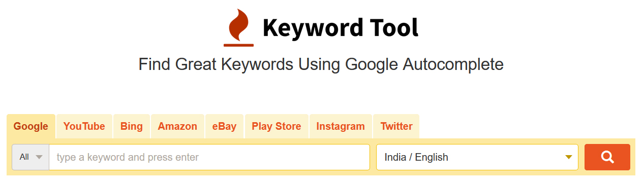keywords-tool-homepage